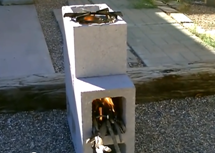 Video diy concrete rocket stove only 4 block for for 4 block rocket stove
