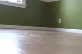 Video brown paper floor creates a cool leather look for Leather flooring cost