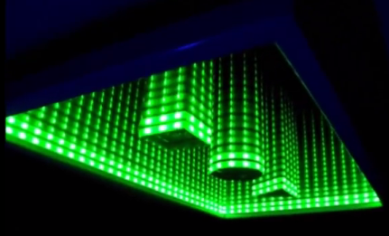 video need a unique nightlight try building this cool diy infinity led mirror brilliant diy. Black Bedroom Furniture Sets. Home Design Ideas