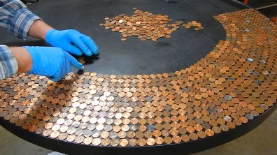 Awesome Penny_Table_Top_Using_Glaze_Coat0