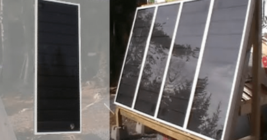 [Video] Creating A Simple DIY Aluminium Solar Air Heater At Home.