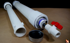 Homemade Air Cannon Out Of PVC Pipes  Can Throw A Projectile Many